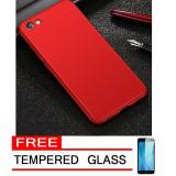 Spesifikasi Case Hard Frosted Pc Back Cover 360 Full Protection Housing For Xiaomi Redmi Note 5A Red Free Tempered Glass Bagus