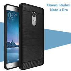 Case Ipaky Carbon Fiber for Xiaomi Redmi Note 3 Pro Softcase Premium Shockproof TPU - Hitam