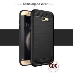Case Ipaky Carbon Fiber Samsung Galaxy A7 2017 Soft Series