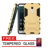 Diskon Case Kickstand Hybrid Armor Iron Man Pc Tpu Back Cover Case For Xiaomi Redmi Note 4X Gold Gratis Tempered Glass Case Dki Jakarta