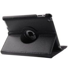 Case Leather Case for New iPad (iPad 3) / iPad 2 - Black