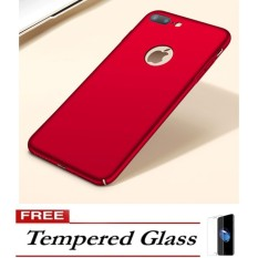 Case Luxury Hard PC Plastic Matte Cases For iPhone 6 – Red FREE Tempered Glass