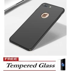 Harga Case Luxury Hard Pc Plastic Matte Cases For Iphone 7 Plus Black Free Tempered Glass Case Label