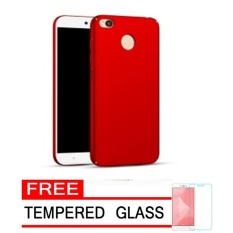 Harga Case Matte Frosted Slim Full Protection Cover Hard Pc For Xiaomi Redmi 4X Redmi4X 5 Inch Red Free Tempered Glass Lengkap