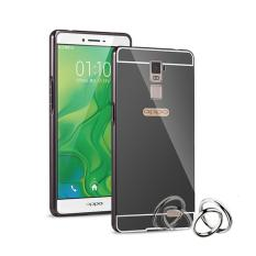 Case Metal Bumper Mirror For Oppo R7 Plus - Hitam