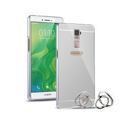 Case Metal Bumper Mirror For Oppo R7 Plus - Silver