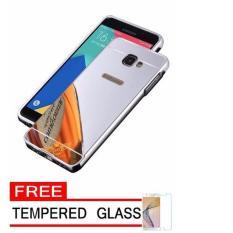Spesifikasi Case Metal For Samsung Galaxy J5 Prime Aluminium Bumper With Mirror Backdoor Slide Silver Free Tempered Glass Online