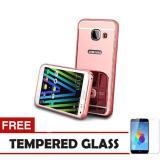 Toko Case Metal For Samsung Galaxy J7 Prime Aluminium Bumper With Mirror Backdoor Slide Rose Gold Free Tempered Glass Case Dki Jakarta