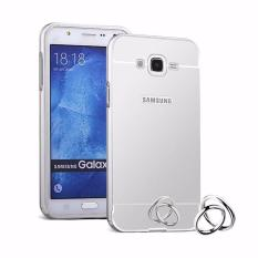 BELI 1 GRATIS 4 (TOTAL 5) Warna Random Case Metal for Samsung Galaxy V2 (G106) Aluminium Bumper With Mirror Backdoor Slide - Silver