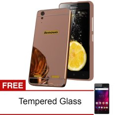 Beli Case Mirror Aluminium Bumper With Slidding For Lenovo A6000 Rose Gold Gratis Tempered Glass Cicilan