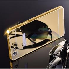 Case Oppo F1s Selfie Expert  / A59 Alumunium Bumper With Sleding Mirror / Bumper Cermin - Gold