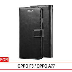 Review Pada Case Dompet Kulit Oppo F3 Oppo A77 Leather Wallet Flip Retro
