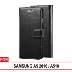 Spesifikasi Case Dompet Kulit Samsung Galaxy A5 2016 Samsung Galaxy A510 Leather Wallet Flip Retro Casing Handphone