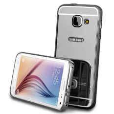 Case Samsung Galaxy A7 2016 (A710) Metal Bumper With Mirror Backcase Slide - Hitam