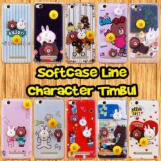 Case Samsung Galaxy J1 Ace Softcase Line Character Timbul Gratis Tempered Glass (Warna Gambar RANDOM) QDS