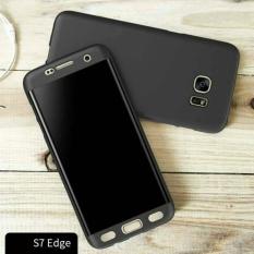 Beli Case Samsung S7 Edge Full Body Case 360 Full Protection Free Anti Shock 3D Curve Hitam Samsung Accessories Online