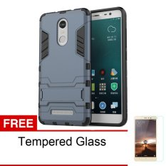 Case Shield Armor Kickstand Series untuk Xiaomi Redmi Note 3 Pro - Black + Free Tempered