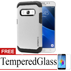 Case Slim Armor Hard Protective For Samsung Galaxy J5 (2016) + Tempered Glass-