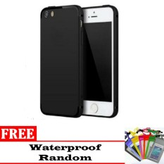 Case Slim Black doff Matte for Iphone 7+/ 7s+ Anti minyak + free Waterproof (random)