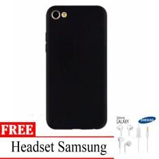 Casing Handphone / Softcase Anti Minyak Baby Skin Case Black Matte Ultra slim Untuk Vivo V5+ / Vivo X9 + free Headset Samsung