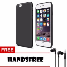 Case Slim Black Matte iPhone 6 Softcase Baby Skin + Free Handsfree