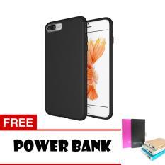 Case Slim Black Matte iPhone 8 Plus Softcase Black + Free Powerbank