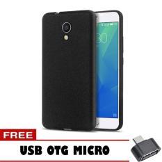Case Slim Black Matte Meizu M5s Softcase Black + Free OTG Micro