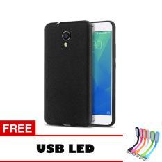 Case Slim Black Matte Meizu M5s Softcase Black + Free Usb Led