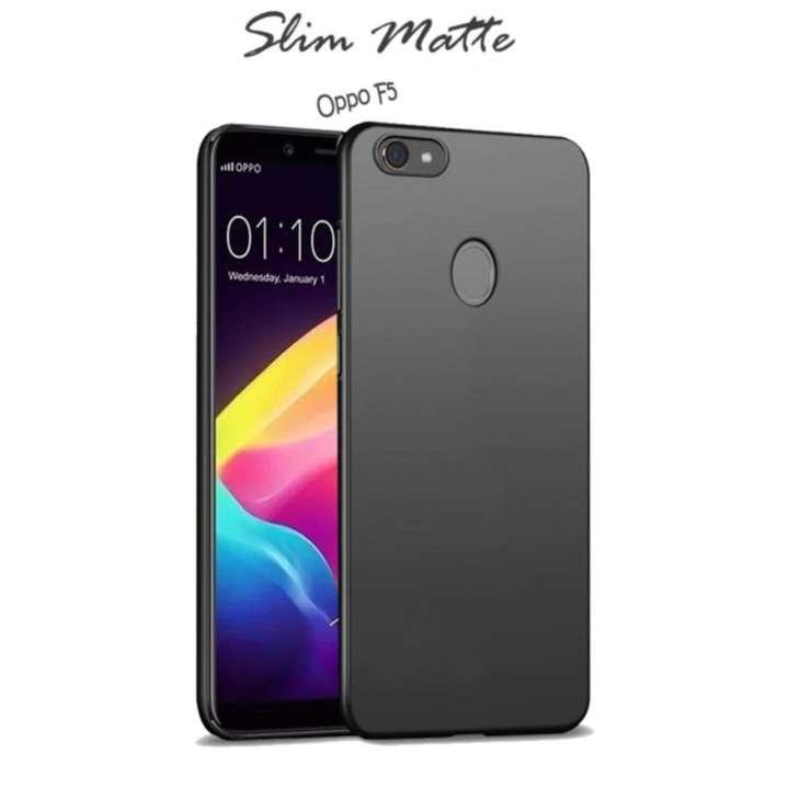 Case Slim Black Matte Oppo F5 Baby Skin Softcase Ultra Thin Jelly Silikon Babyskin
