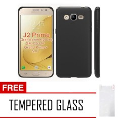 Case Slim Black Matte Samsung Galaxy J2 Prime Softcase Baby Skin + Free Tempered Glass