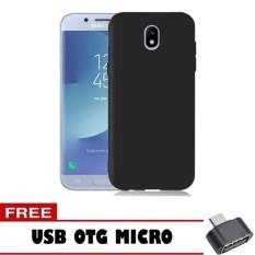 Case Slim Black Matte Samsung Galaxy J5 Pro Softcase Baby Skin + Free OTG Micro