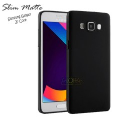 Case Slim Black Matte Samsung Galaxy J7 Core Baby Skin Softcase Ultra Thin Jelly Silikon Babyskin