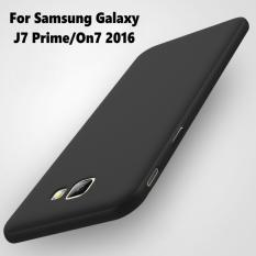 Case Slim Black Matte Samsung J7 Prime Softcase Anti minyak