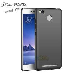 Case Slim Black Matte Xiaomi Redmi 3S / 3 Pro Baby Skin Softcase Ultra Thin Jelly Silikon Babyskin