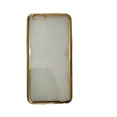 Dapatkan Segera Case Softcase Oppo F1S List Chrome Gold Transparant