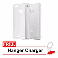 Case Softcase Ultrathin for Xiaomi Redmi 3s / 3pro / 3x -  Clear + Free Hanger Charger