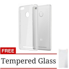 Case Softcase Ultrathin for Xiaomi Redmi 3s / 3pro / 3x -  Clear + Free Tempered Glass