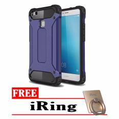 Case  Tough Armor Carbon for Huawei P9 Lite - Biru Dongker +  Free iRing