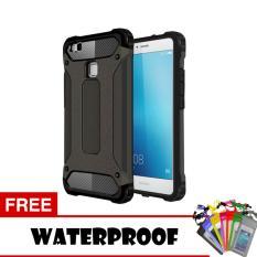 Case Tough Armor Carbon for Huawei P9 Lite - Hitam + Free Waterproof
