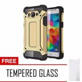 Cara Beli Case Tough Armor Carbon For Samsung Galaxy J2 Prime Gold Free Tempered Glass