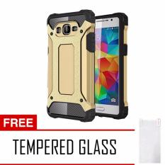 Jual Case Tough Armor Carbon For Samsung Galaxy J2 Prime Gold Free Tempered Glass Murah