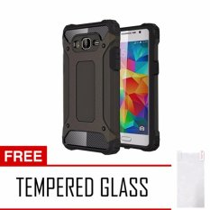 Case Tough Armor Carbon for Samsung Galaxy J2 Prime - Hitam + Free Tempered Glass