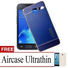 Case TPU Crocodile For Samsung  Galaxy J1 Mini + Free Ultrathin - Blue