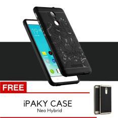 Case TPU Dragon Back Cover Silikon Original for Xiaomi Redmi Note 3 / Note 3 Pro - Black + Gratis iPaky Case