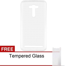 Case Ultra Thin Asus Zenfone 2 Laser ZE550KL (5.5 inch) Soft Jelly – Clear + Free Tempered Glass