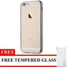 Case Ultrathin Shining Chrome for Iphone 4 / 4s Silver Free Tempered Glass