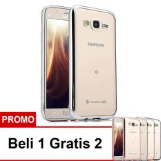 Case Ultrathin Shining Chrome Untuk Samsung Galaxy Grand 1 Duos / 9082 - Silver - Buy 1 Get 2 Free