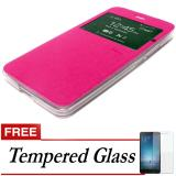 Jual Cepat Case Ume Flip Cover For Samsung Galaxy J5 Prime Pink Free Tempered Glass