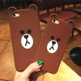 Jual Case Vivo Y53 Softcase Silikon 3D Kartun Soft Ultra Thin Slim Karakter Bear Brown Multi Grosir