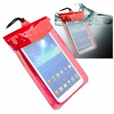 Case Waterproof Elegant untuk iPad Mini dan Tablet Samsung Tab 3 7.0 - Merah